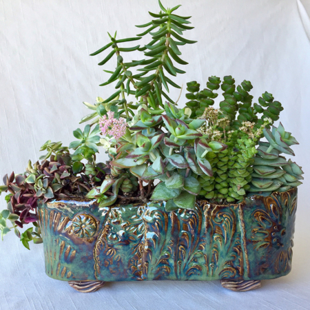 Large Brown and Green Pot